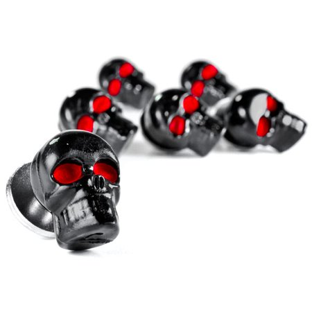 Custom Black Skeleton Skull Bolt Nuts Screws 6mm For Harley Davidson Police FLHP - image 5 of 6