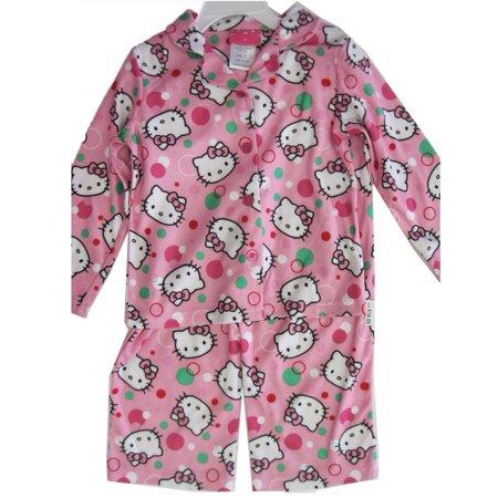 Hello Kitty Little Girls Pale Pink Kitty Dot Print 2 Pc Pajama 4-6