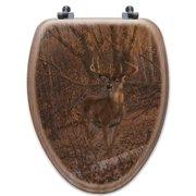 WGI-GALLERY Great Eight Oak Elongated Toilet Seat