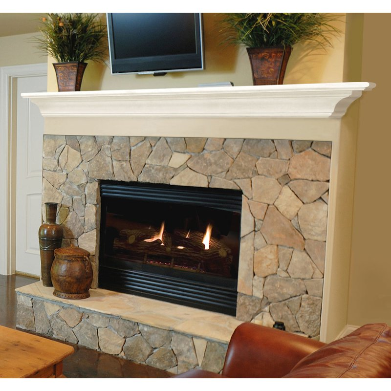 Pearl Mantels Crestwood Transitional Fireplace Mantel Shelf ...