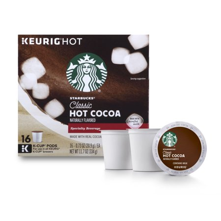 (Starbucks Classic Hot Cocoa Single Serve Pods for Keurig Brewers, 1 box of 16 (16 total K-Cup Pods))