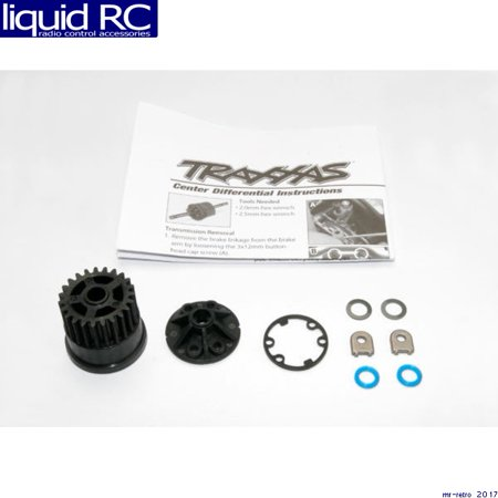 Gear, center differential (Slayer)/ Cover (1) / X-ring seals (2)/ gasket (1)/ 6x10x0.5 TW (2) (Replacement gear for 5914)