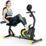 Best Recumbent Exercise Bikes - pooboo Recumbent Exercise Bike with Adjustable Magnetic Resistance,Indoor Review