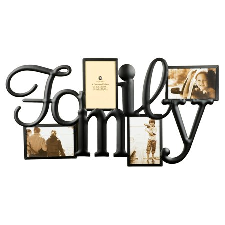 Nielsen Bainbridge Burnes of Boston Family Collage Picture Frame with 4 Openings - Family Of 4 Photo Ideas