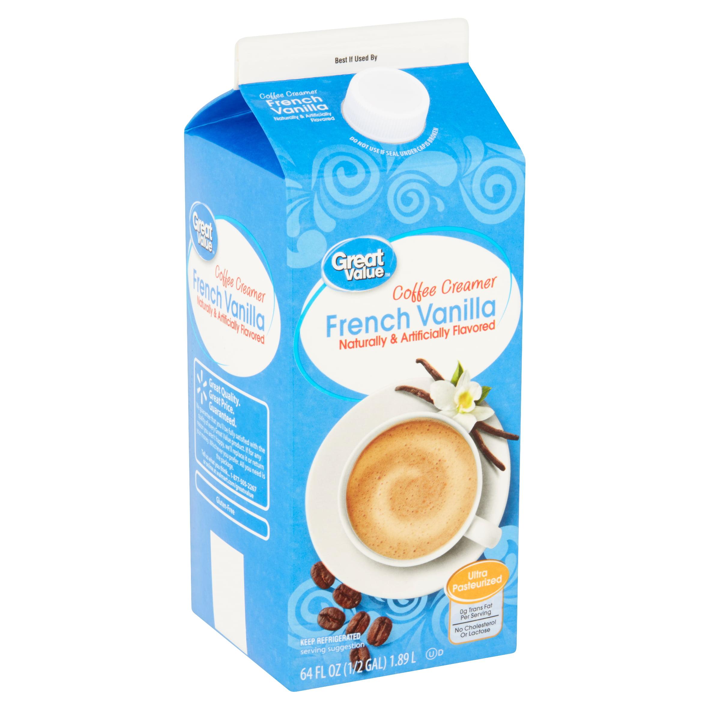 Great Value French Vanilla Coffee Creamer, 64 fl oz