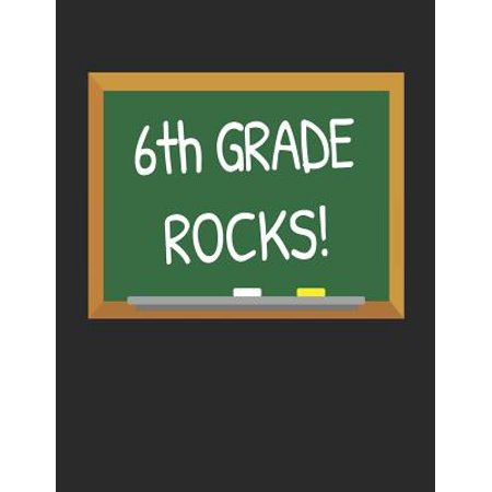 Sixth Grade Halloween Art (6th Grade Rocks!: Gifts for Teachers Day and Back to School Chalkboard Quote Design Composition Notebook)