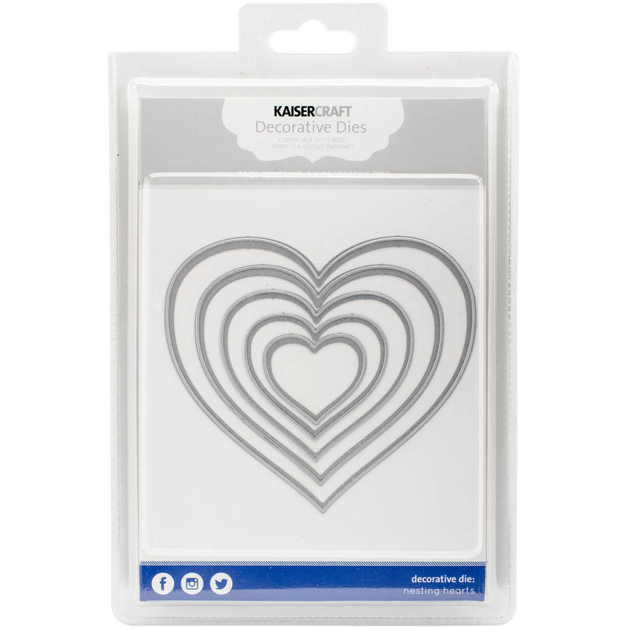 "Kaisercraft Nesting Dies, Hearts Up to 4.25"" x 4.75"""