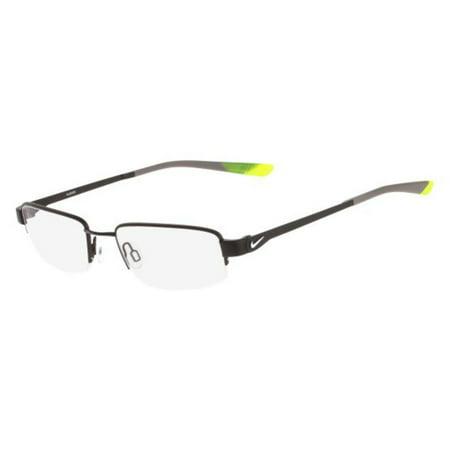 Nike 4271-005-53 Rectangle Men's Black Frame Clear Lens Genuine Eyeglasses NWT ()
