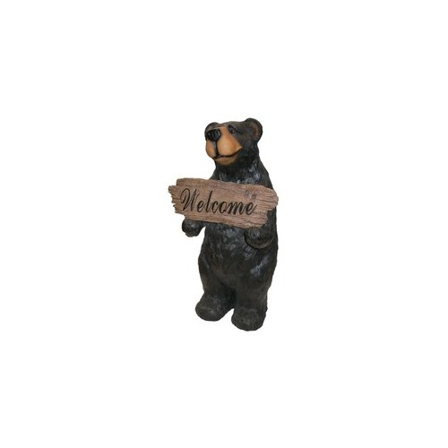 Alpine Bear with Welcome Sign Statuary