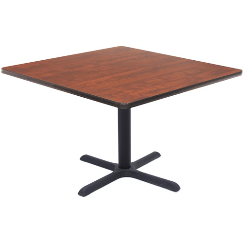 """Regency 42"""" Square Lunchroom Table with Metal """"X"""" Base"""