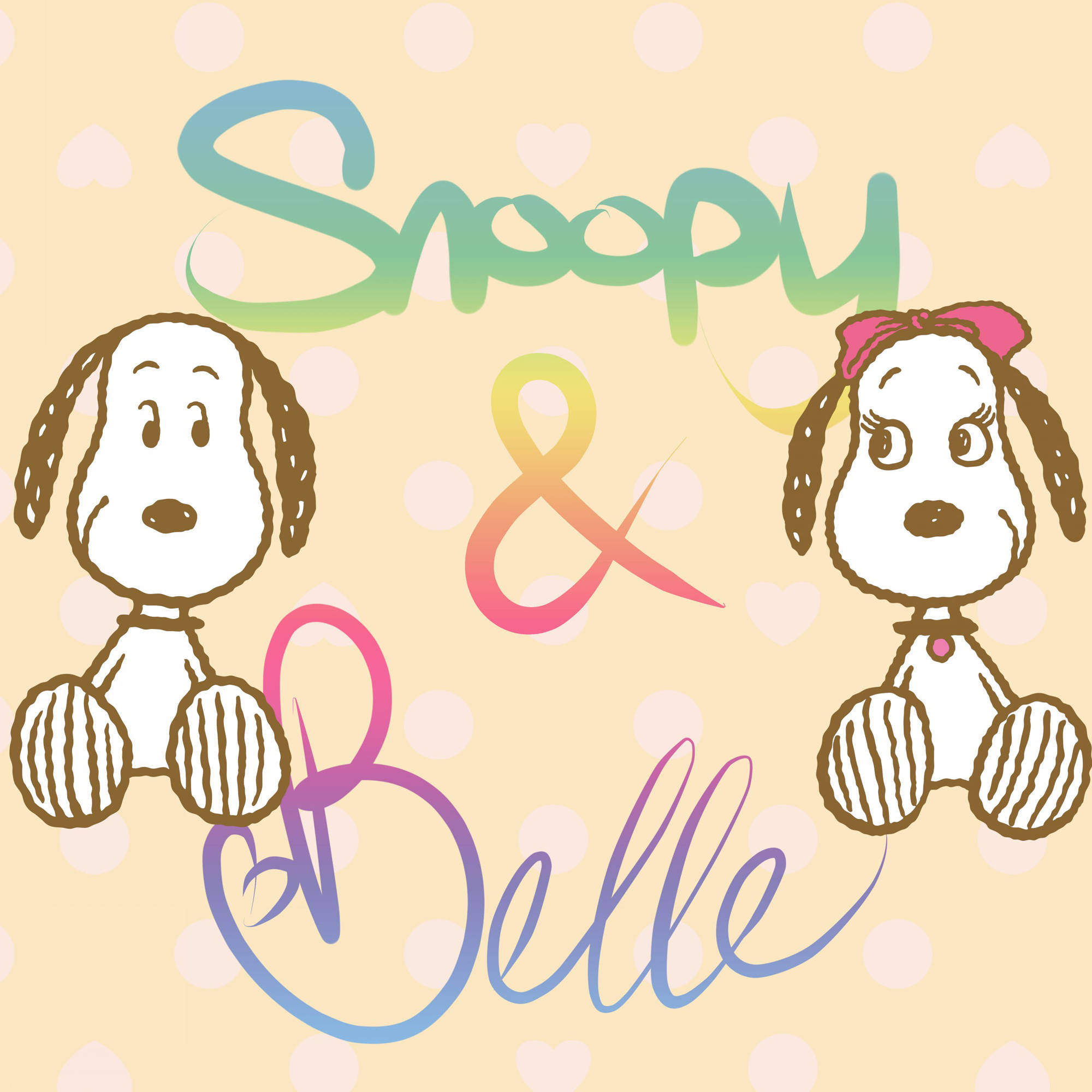 "Marmont Hill ""Snoopy & Belle"" Peanuts Print on Canvas"