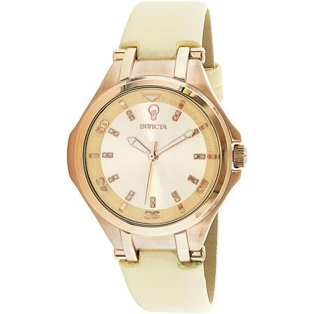 Invicta Womens Gabrielle Union 23254 Rose Gold Leather Quartz Fashion Watch