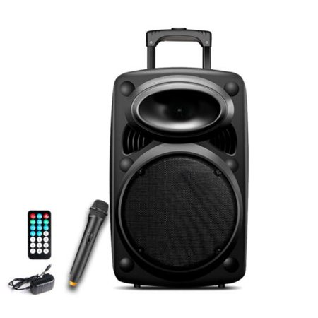 1500W Pro 12 inch Pro Series DJ Speaker Bluetooth PA System, Built-in USB & SD Card Support Radio, Battery Rechargeable, W/ Remote
