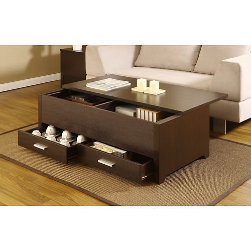 Knox Coffee Table. This Contemporary Storage Box Table Combines Plenty of Space