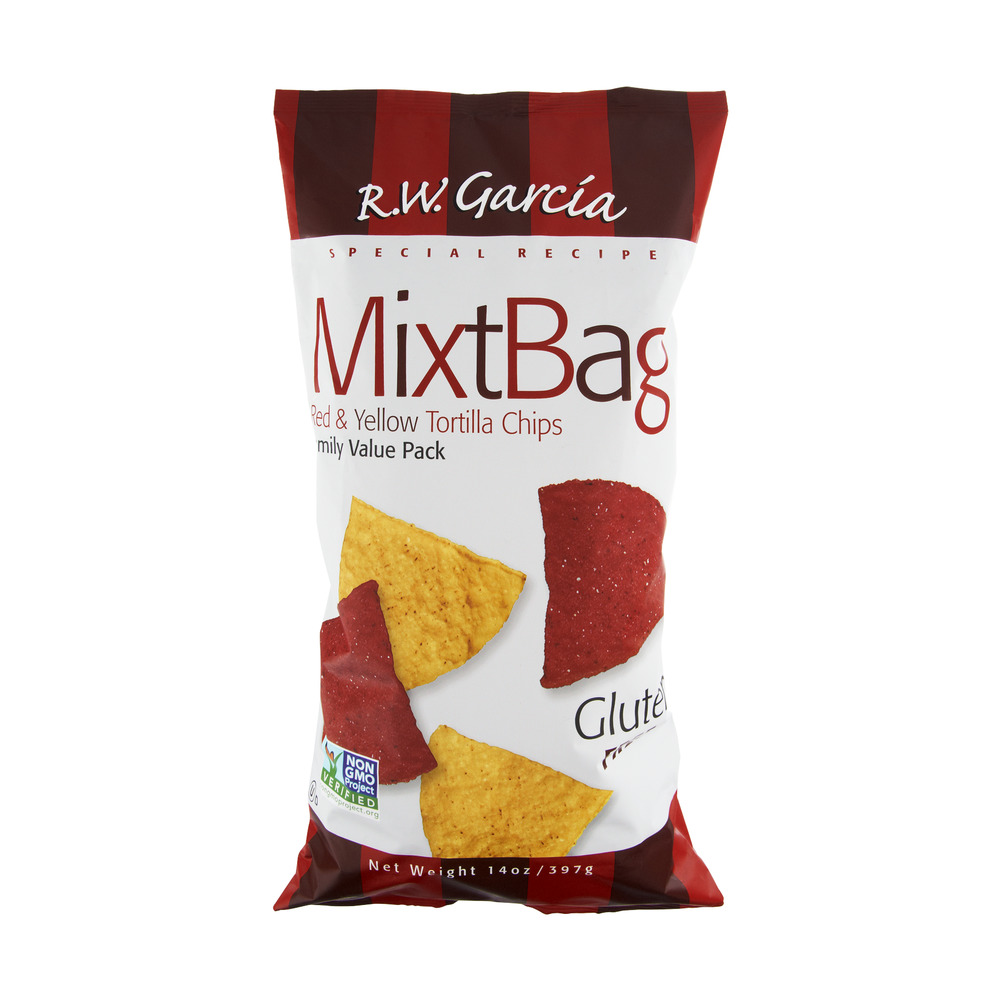R.W. Garcia MixtBag Gluten Free Red & Yellow Family Value Pack Tortilla Chips, 14.0 OZ