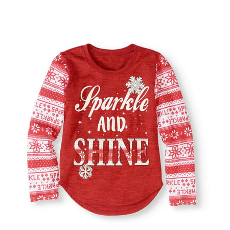 girls sparkle and shine christmas sweater - Girls Christmas Sweater