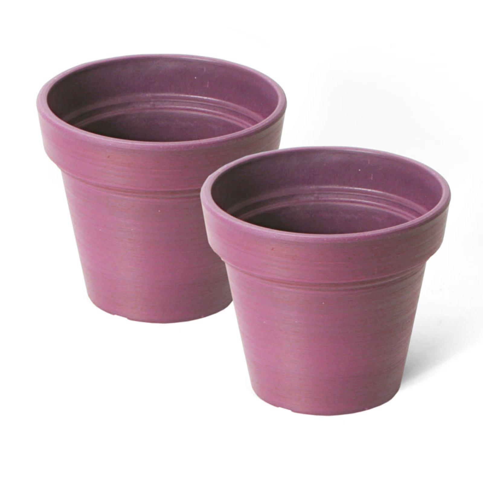 Algreen Round 6 in. Banded Planter - Set of 2