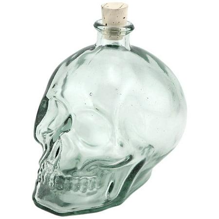 Skull Shaped Hand Blown Glass Decanter - 1 Liter ()