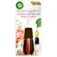 Air Wick Essential Mist Fragrance Oil Diffuser Refill, Peony & Jasmine, 1ct