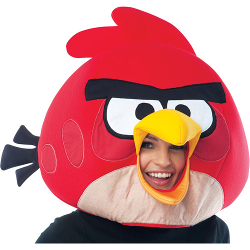 Angry Birds Adult Halloween Mask, Red