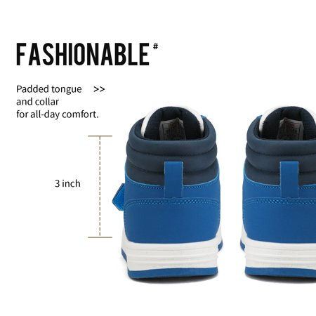 DREAM PAIRS Boys Girls White Royal Blue High Top Sneaker Shoes Size 3 Little Kid Freestyle-K