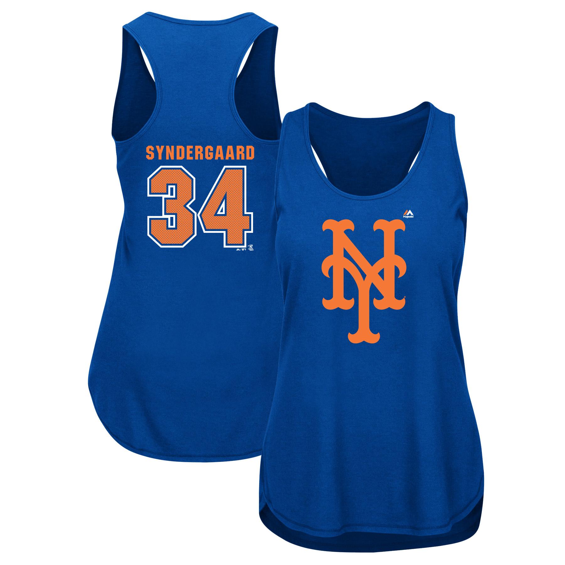 Noah Syndergaard New York Mets Majestic Women's Men of October Player Tank Top - Royal