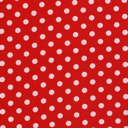 Big Dot Bundle (SHASON TEXTILE (3 Yards cut) 100% COTTON PRINT QUILTING FABRIC, RED / WHITE BIG DOTS)
