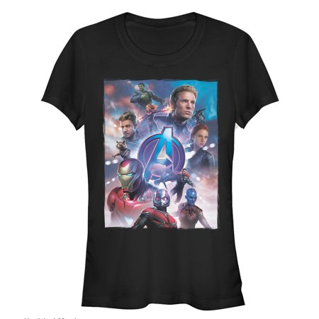 Marvel Juniors' Avengers: Endgame Hero Poster T-Shirt - Marvel Heroes Womens