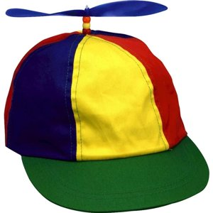 Propeller Beanie Multi-colored Hat Halloween Costume Accessory