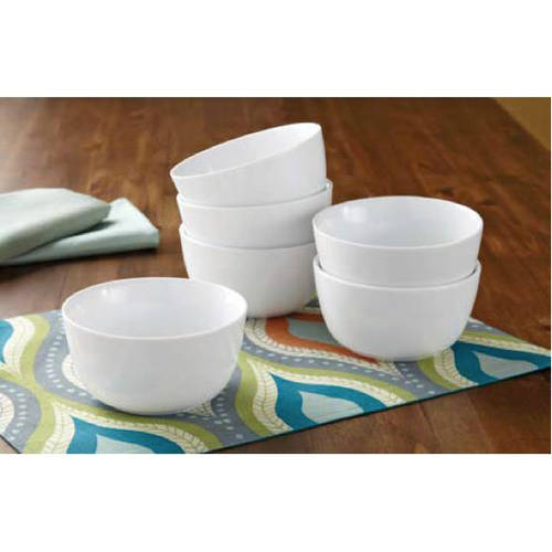 Better Homes And Gardens Round Rim Bowls, White, Set Of 6