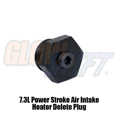 Power Boost Pipe - GlowShift 7.3L Power Stroke Air Intake Heater Boost Plug Adapter