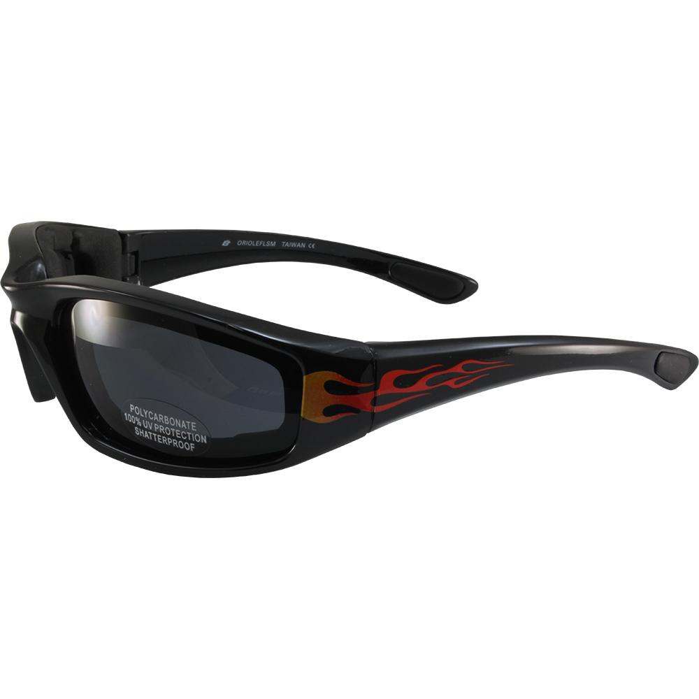 2 Birdz Bald Eagles Black Frame Motorcycle Goggles Smoke Lens and Yellow Lens