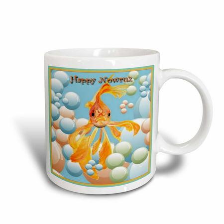 3dRose Happy Nowruz- nowruz, iranian new year, persian new year, march, march 21, Goldfish, fantail, Ceramic Mug,