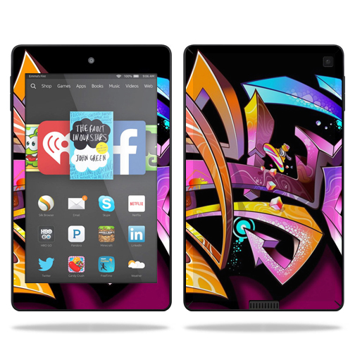 Skin Decal Wrap for Amazon Kindle Fire HD 6 sticker Wicked Graffiti
