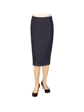 804d96bb68 Product Image Baby'O Women's Below The Knee Stretch Denim Pencil Skirt