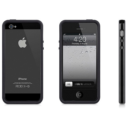 TWO TONE PROTECTIVE FRAME CASE BLACK FOR IPHONE5