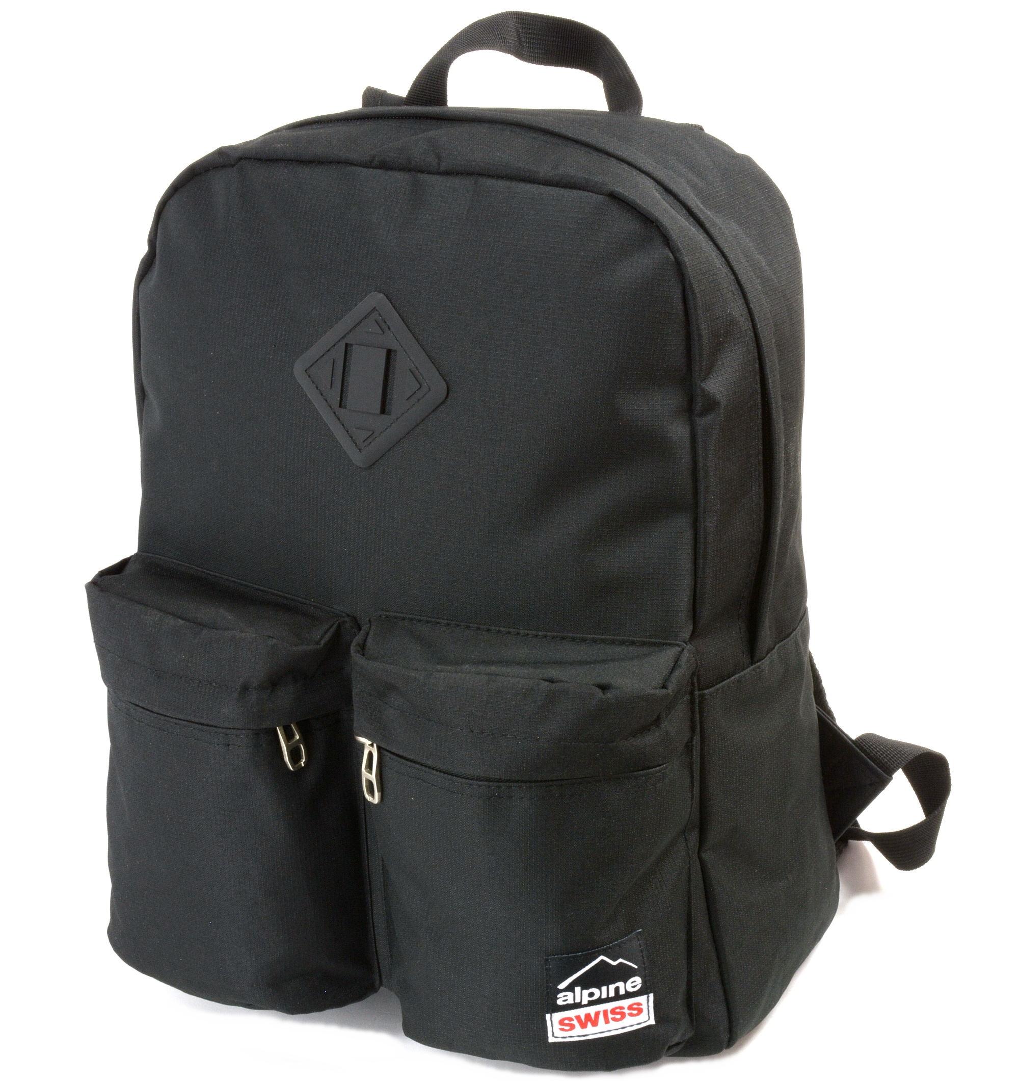 Alpine Swiss Major Back Pack Bookbag School Bag Daypack 1 Year Warranty Backpack