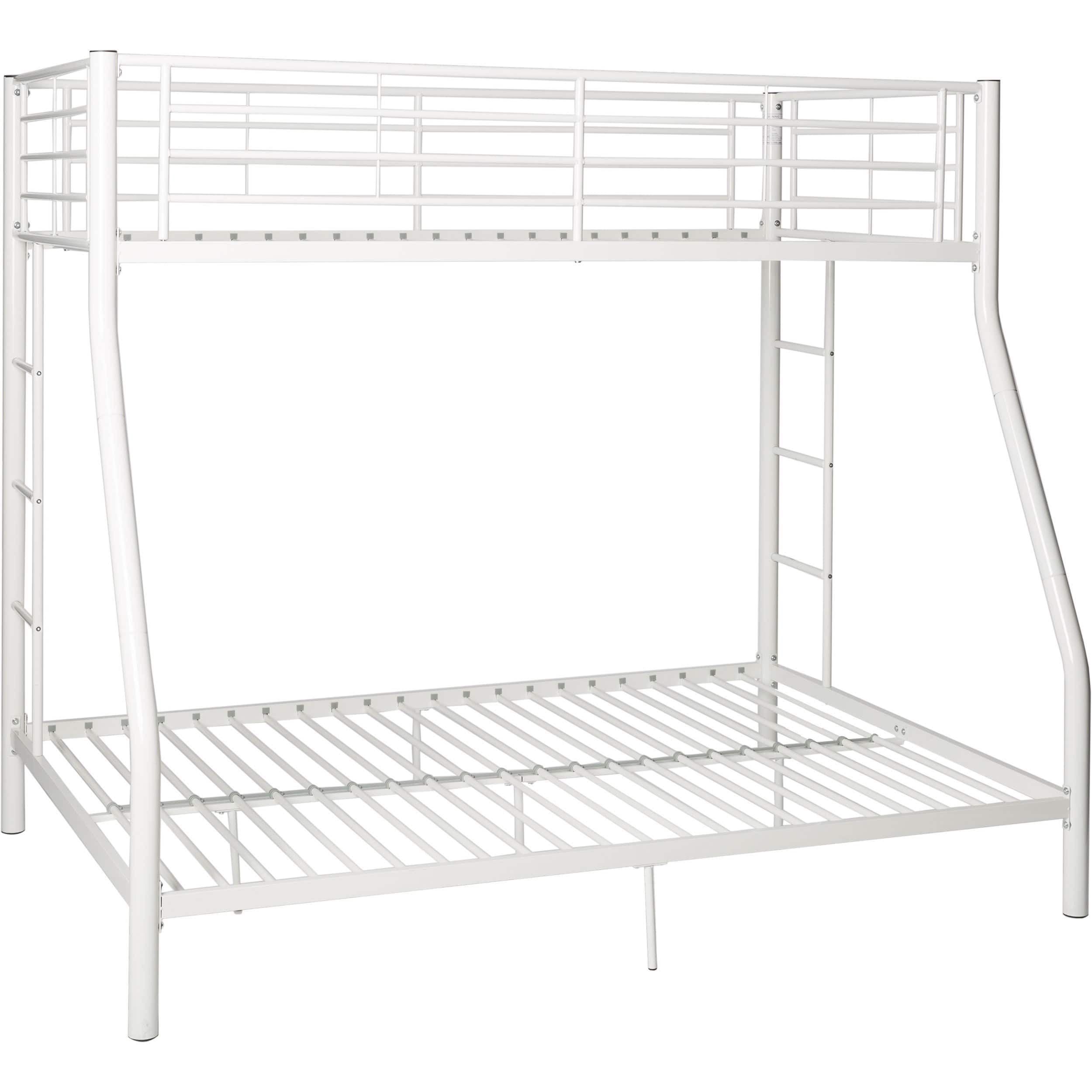 e6bd5dae93e57 Taylor   Olive Abner White Metal Bunk Bed - Twin Over Full - Walmart.com