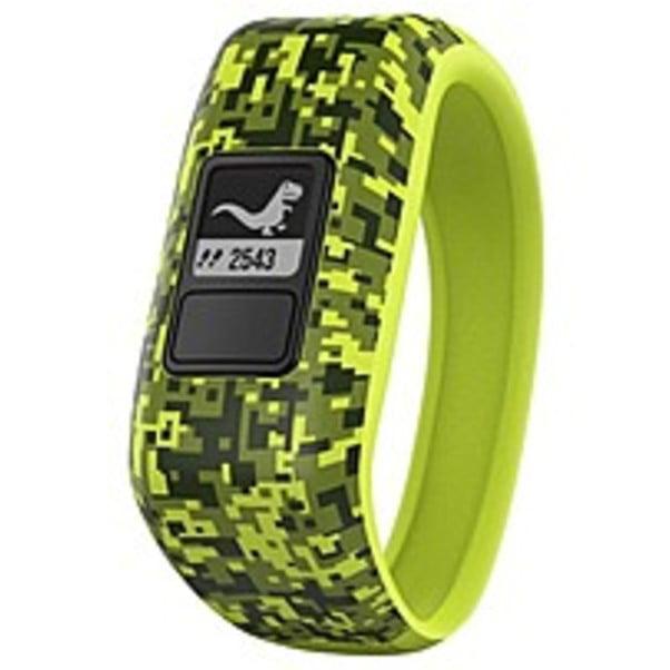 Refurbished Garmin vivofit Jr. Activity Tracker - Steps Taken - Sleep Quality - Timer - Green Camo