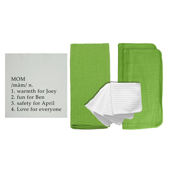 "Personalized ""Definition of a Mom"" 8 Piece Kitchen Towel Set"