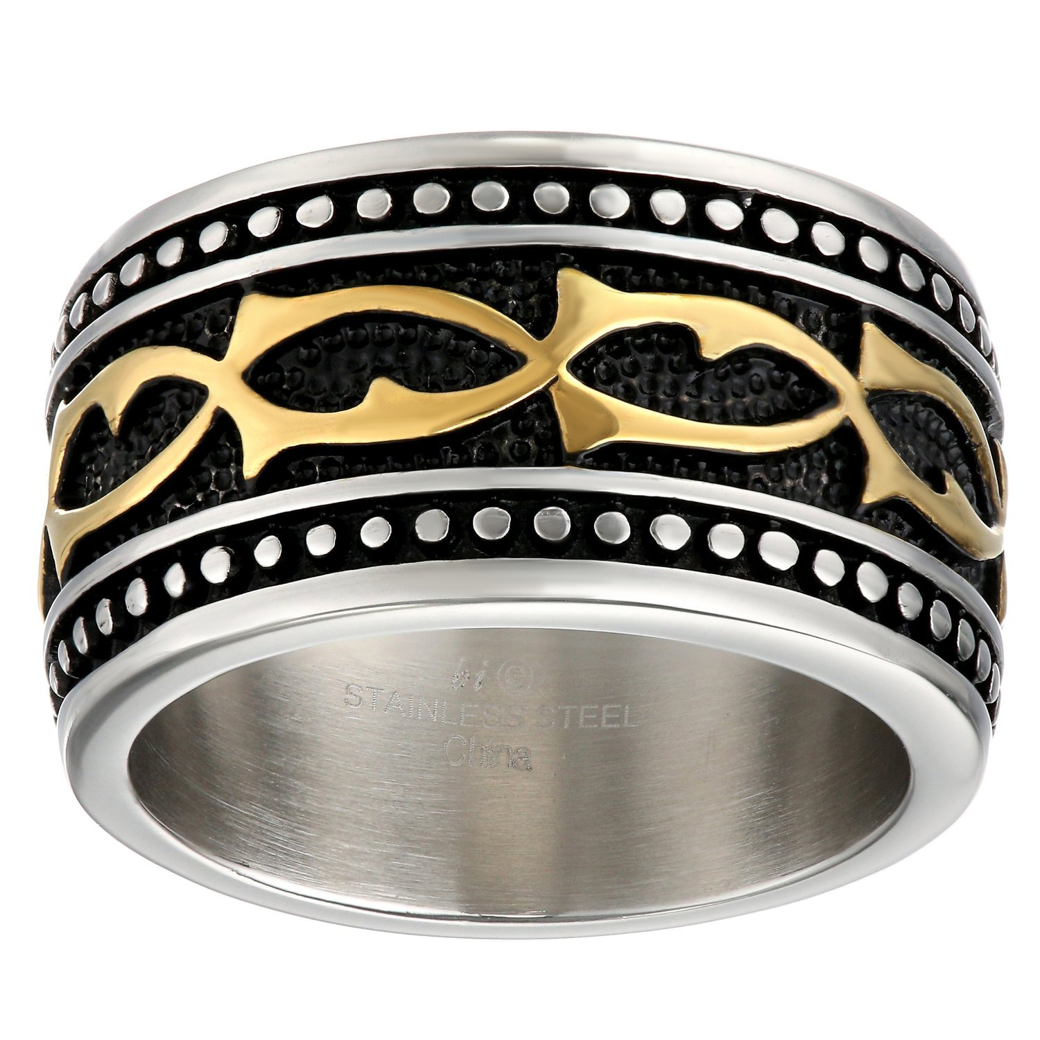 Stainless Steel Ring Gold Ion Plating