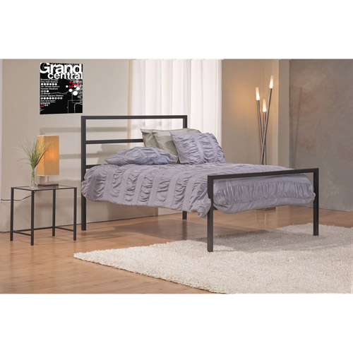 Mainstays Full Parsons Bed, Black