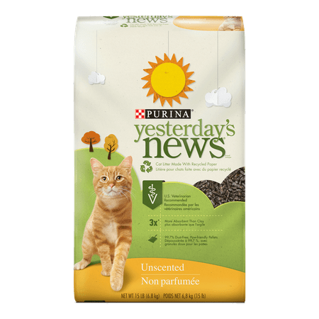 Purina Yesterday's News Unscented Cat Litter, 15-lb -