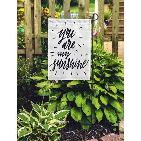 JSDART You are My Sunshine Inspirational and Motivational Hand Brush Garden Flag Decorative Flag House Banner 28x40 inch - image 1 de 2