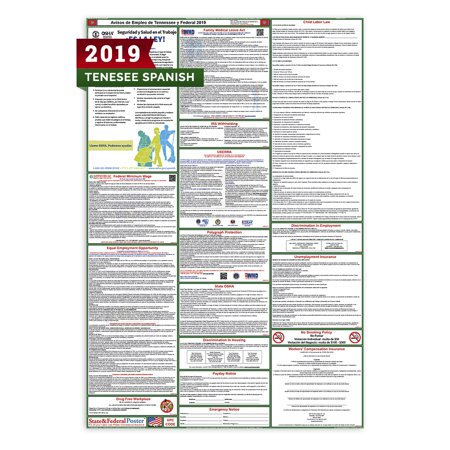 2019 Tennessee State and Federal Labor Law Poster (Spanish)](Spanish Classroom Posters)