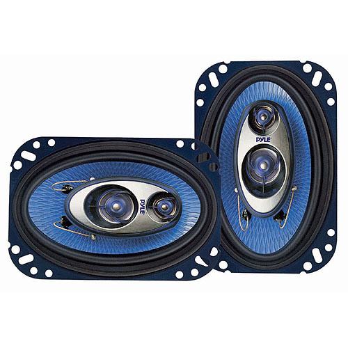"Pyle Blue Label 3-Way 4"" x 6"" Speakers (Pair of Speakers)"
