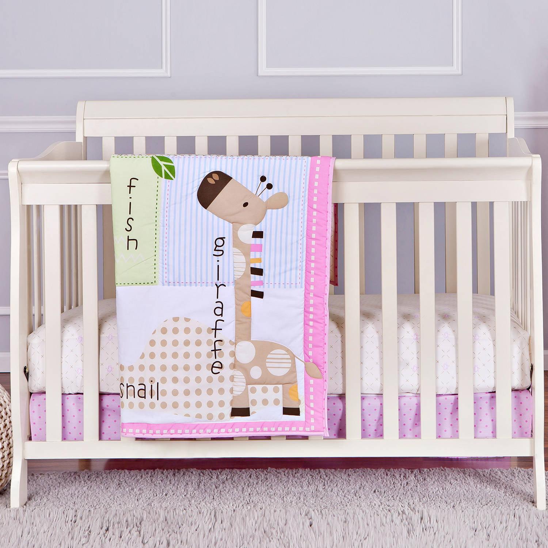 Dream On Me Jungle Friends 2-Piece Reversible Full-Size Crib Bedding Set