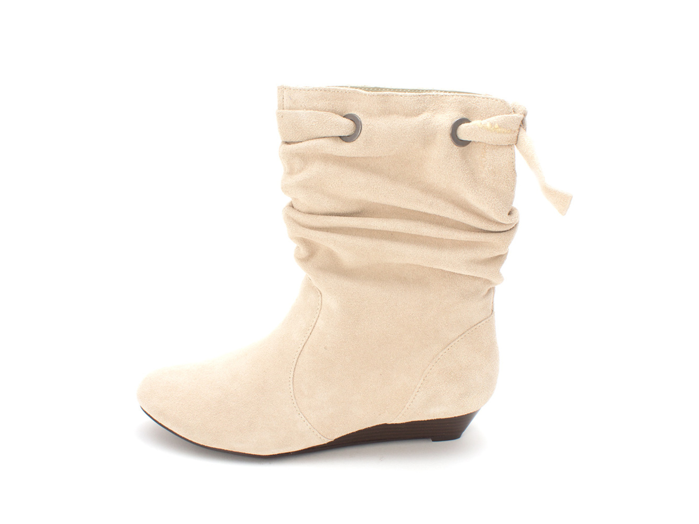 White Mountain Womens Brooklyn Leather Closed Toe Mid-Calf, Rice/Suede, Size 8.0