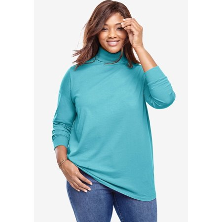 Woman Within Plus Size Perfect Long Sleeve Turtleneck