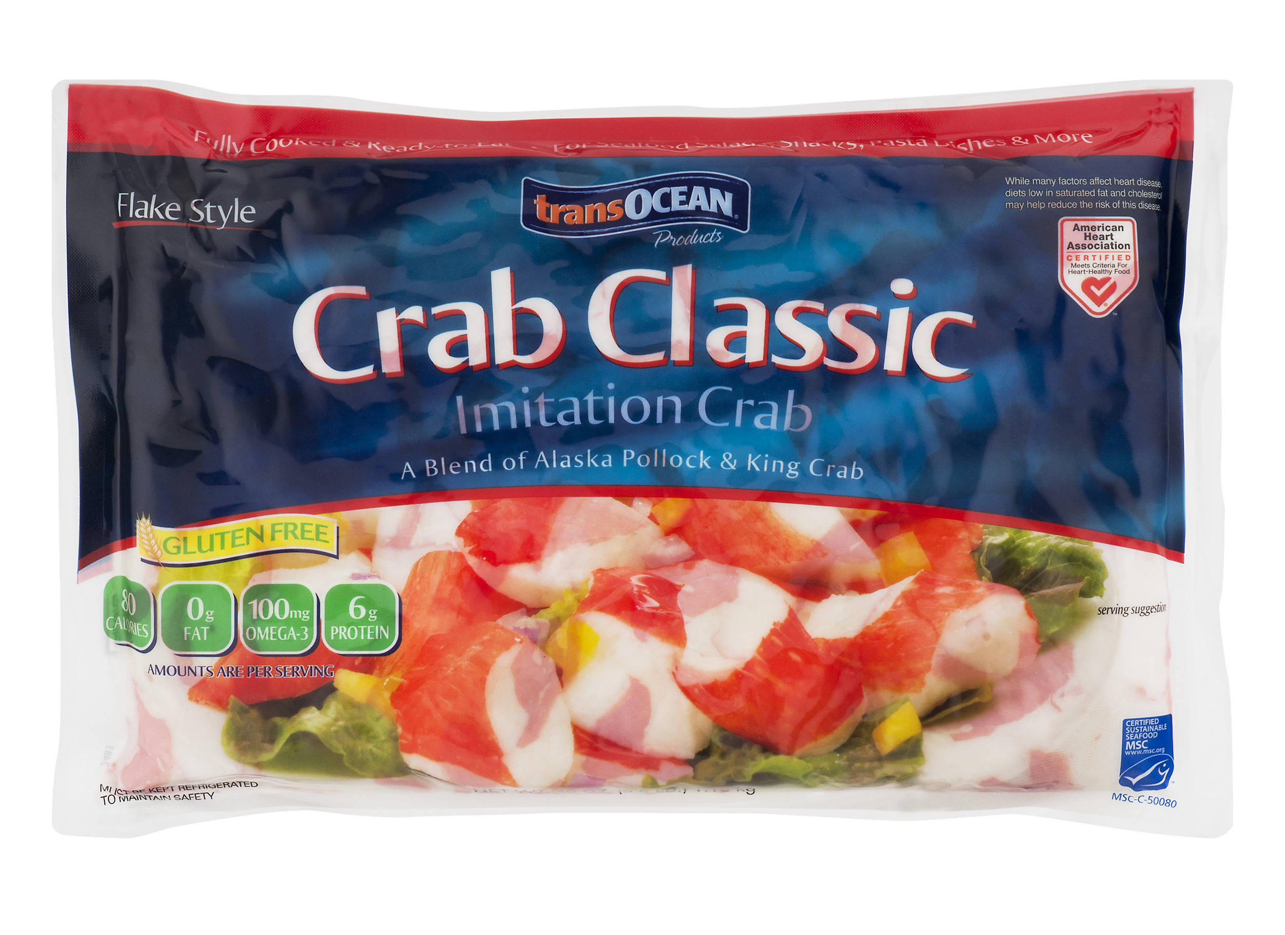 Trans-Ocean Crab Classic Flake Style Imitation Crab 40 oz  Bag